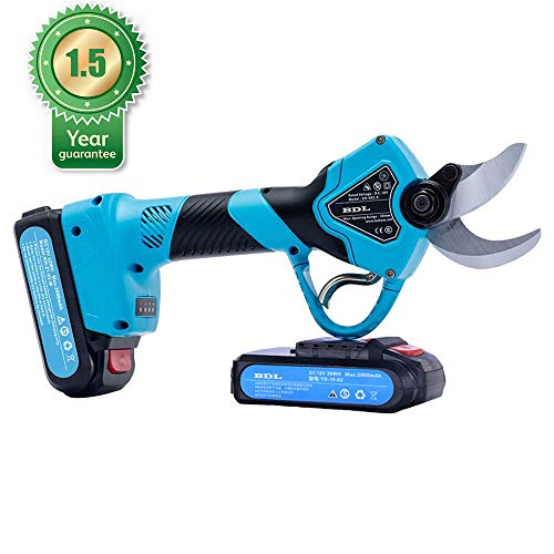 Buy BAIDELE Professional 21V Cordless Electric Pruning Shears,2PCS Backup Rechargeable 2Ah Lithium B...
