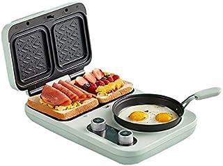 JYDQB 4 dans 1 Ménage Multifonctionnel électrique Petit déjeuner Maker Automatique Sandwich Grille-Pain Ham Meat Grill Pan...