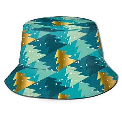 PUIO Angelhut Fischerhut,Geometrischer Weihnachtsbaum Nahtloser Musterhintergrund,Bonie Safari Sonnenhüte zum Wandern im Freien für Männer und Frauen
