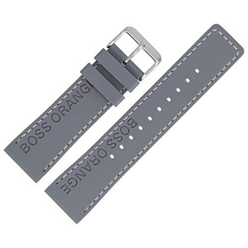 Hugo Boss Uhrenarmband 24mm Kunststoff Grau - 659302658