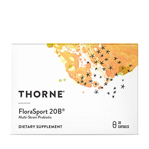 Thorne Research - FloraSport 20B Probiotic Supplement - 20 Billion Active Cultures per Capsule - NSF Certified for Sport - 30 Capsules