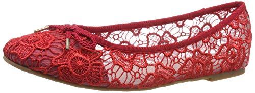 Tamaris Damen 1-1-22142-22 519 Geschlossene Ballerinas Rot (CHILI MACRAMEE 519), 41 EU