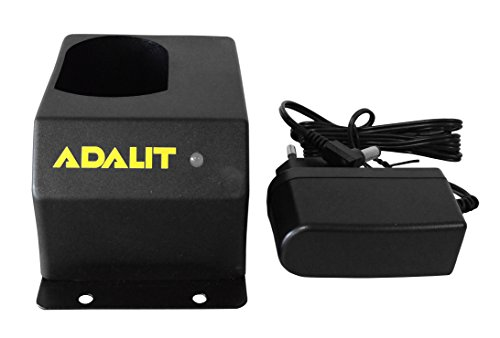 Adalit IL-300 Cargador para lámpara de mano industrial con luz LED, 220/240 V, 1 pieza, negro