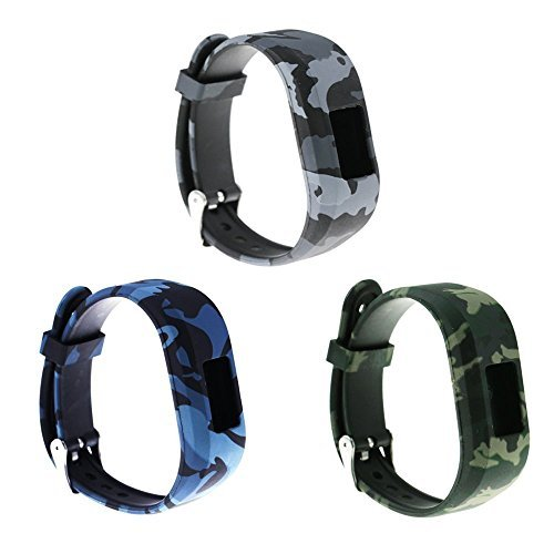 RuenTech Compatible with Garmin vivofit jr/vivofit jr 2 Replacement Band Colorful Adjustable Wristbands with Secure Watch-Style Clasp Strap for Vivofit jr and Vivofit jr. 2