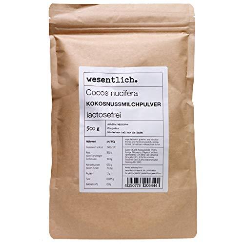 Kokosnussmilchpulver (500g) - im Standbodenbeutel von wesentlich.
