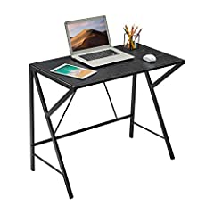 [COMPUTER DESK FOR SMALL SPACE]—This small computer desk measures 35.43*18.90*29.53 Inch. It is the ideal computer desk of a small room or limited space. Reject crowding and clutter, make work, and study more comfortably. [Computer Desk with K-FRAME ...