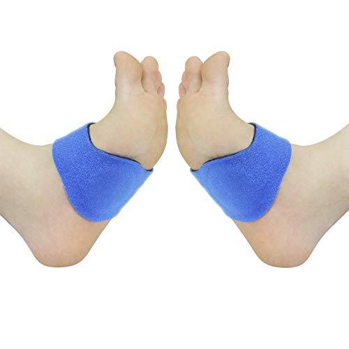 Gel-Fussbandage für den Mittelfuss | Fußbandage gegen Hohlfüße, Plantarfasziitis und Plattfüße | Stützt Mittelfuß, Fußgewölbe & Fußballen | Weiches Gel-Material