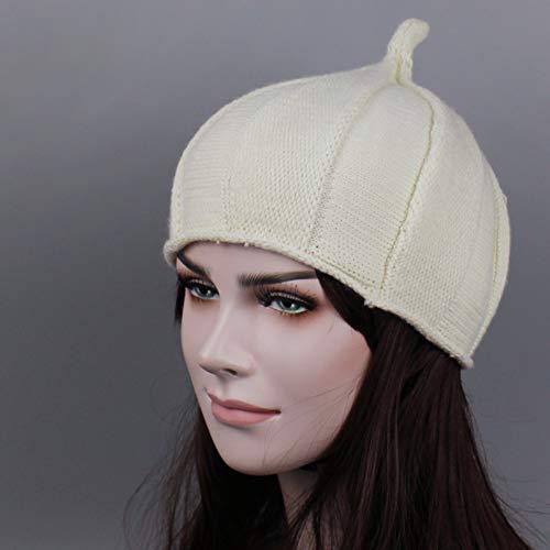 YLNNB Spring Skullies Bonnets Knit Hat Lovely Womens Beanie Ski Cap Femenino Touca Sombreros para Mujer Niña Gorros 4 Colores Gorro