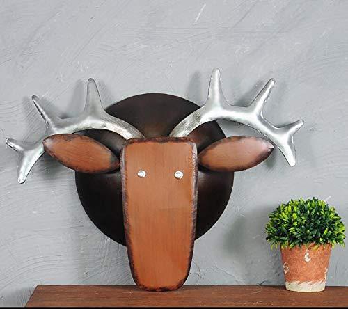MODYL Vintage Smeedijzeren Dierenkop Muurdecoratie Industriële Wind Decoratie Koe Hoofd Herten Hoofd Bar Net Koffie Muur Decoratie Achtergrond Muur Opknoping
