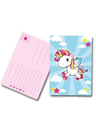8 Cartes d'invitation Licorne - taille - Taille Unique - 307756