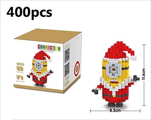 Zenghh 3D Stereo zusammenbaut Modell Red Christmas Minions Diamantpartikel Puppe Bricks Bausteine Spielzeug Lernspiel Kit Eltern-Kind-Interactive Toy (Color : EIN)