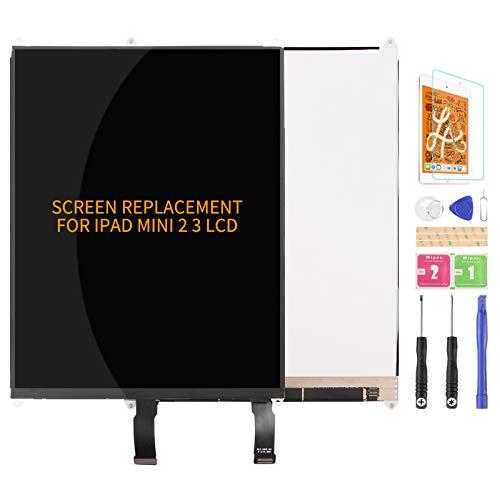 Para iPad Mini 2 3 A1489 A1490 A1491 A1599 A1560 Pantalla LCD de Reemplazo de Pantalla Digitalizador de Vidrio Kits de Montaje de Cristal, Película Templada, Pegamento y Herramientas
