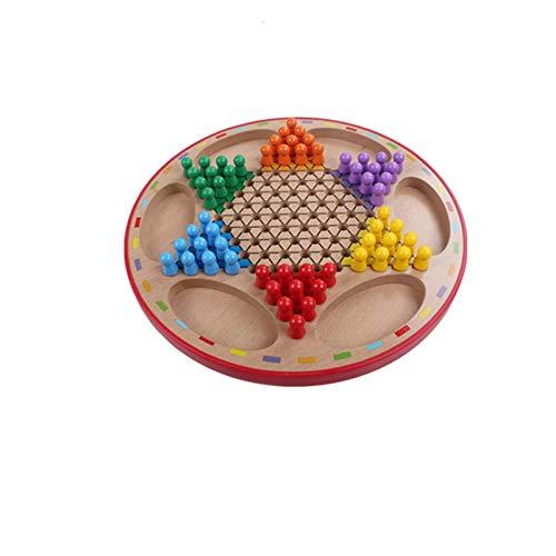 Juegos de mesa Volando Ajedrez Juego Juego Juego Chino Checkers Checkers de madera Juego Juego Set Checkers Solid Wood Checkers Set Todas las edades Classic Strategy juego tablero de ajedrez
