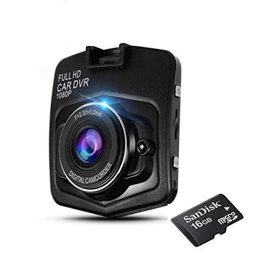 """King shine® Dash Camera Car DVR Dashboard Recorder 1080P 170° Wide Angle with G-Sensor, WDR, Loop Recording, Motion Detection 3"""" LCD Screen Video Recorder with SD Card (16gb)"""
