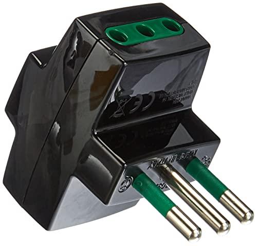 VIMAR S3611D 0A00320N Adattatore Multiplo SICURY 250 V, Max 1500 W, Spina S11, 3 Prese (Piccole) 10 A Standard Italiano P11