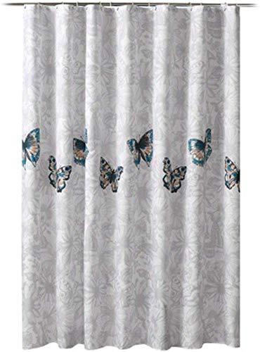 Vorhang Badezimmer Vorhang-Dusche Vorhang Set Lochfreies Duschgewebe Plane Badezimmer Bad Vorhang wasserdichte Verdickung