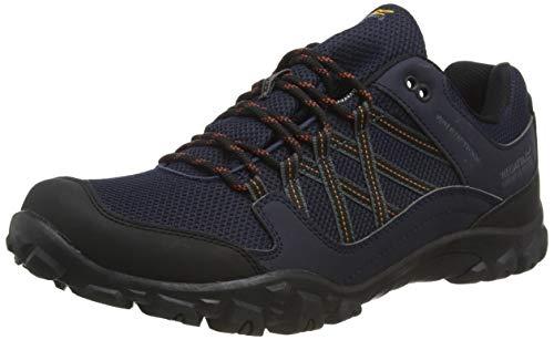 Regatta edgepoint III' Waterproof Walking Shoes, Zapatillas de Senderismo para Hombre, Azul (Navy/Burnt Umbre Qfd), 40 EU