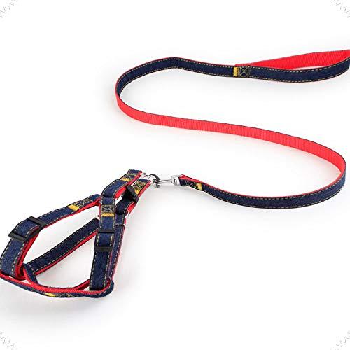 XBAO hondenriem hondenharnas en hondenriem set zacht huisdier vest harness in lengte verstelbaar antislip handvat intrekbare Best Dog Premium hondenriem