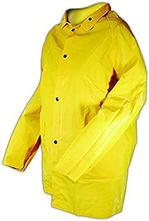 Magid Glove & Safety J7819-XXXXXL Magid Rain Master PVC Supported 14 MIL. Rain Jacket, Medium, Yellow, 5XL