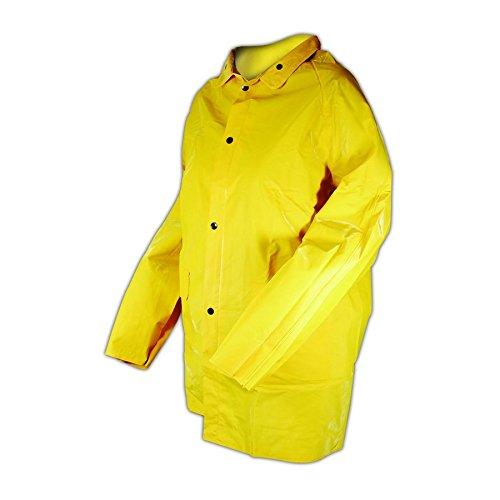 Magid Glove & Safety J7819-XL Magid Rain Master PVC Supported 14 MIL. Rain Jacket, Medium, Yellow, XL