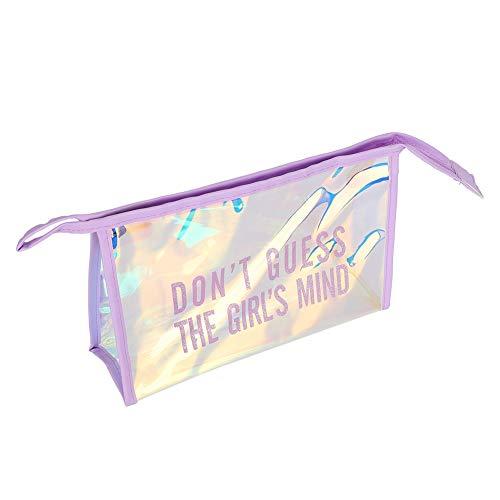 Sacs à cosmétiques, trousse de toilette transparente portable pour organiser les vacances(Violet)