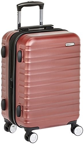 Premium harde spinner-bagage met ingebouwd TSA-slot van AmazonBasics - 55 cm handbagage, rood