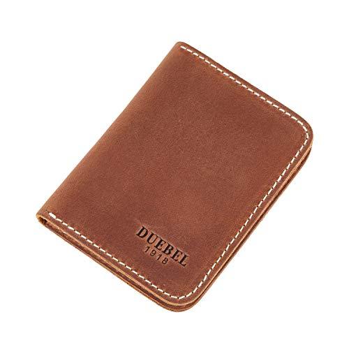 DUEBEL Herren Vollkorn Leder Bifold Reise Brieftaschen/Halter/Case/Protector