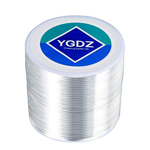 1.5mm Bracelet String, YGDZ Elastic String Crystal Stretch Thread Clear Beading Cords for Bracelets Beading Making