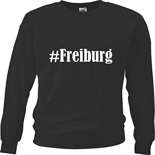 Reifen-Markt Sweatshirt Kinder #Freiburg Größe 164 Farbe Schwarz Druck Weiss