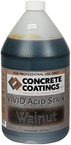 CC Concrete Coatings Vivid Acid Stain for Antique Marble Effect, Concrete Stain for Inside or Outside, Commercial or Residential Use (Caramel, Light Yellowish Brown, 1 Gal)