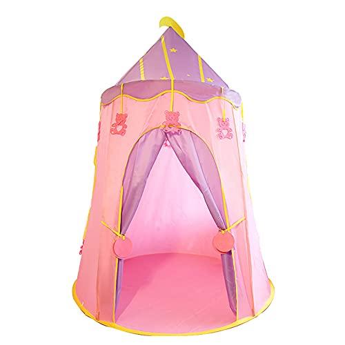 FDYZS Tienda Infantil Tienda Portátil Ligerable Resistente al Agua Bebé Carpa Portátil automática para niños y niñas,Rosado