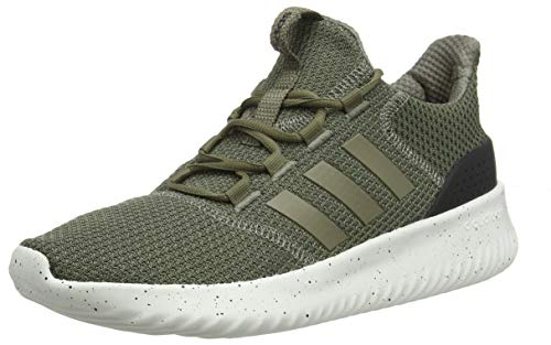 adidas Men's Cloudfoam Ultimate Running Shoes, Green (Raw Khaki/Trace Cargo/Core Black), 3.5 UK