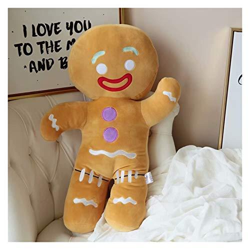 Giocattoli di peluche 30-60 cm Cartoon Carino Gingerbread Man Peluche Giocattoli e pendente Bambola farcita Biscotti uomo cuscino renna per bambini regalo regalo (Height : 30cm)