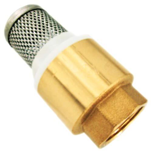 Fußventil Rückschlagventil mit Filter >>> Innengewinde (IG) ½ Zoll