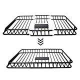 """Roof Rack Cargo Basket with 250 Lbs Capacity, Vehicle Cargo Carriers, 64"""" x 39"""" x 6"""", Car Top Luggage Carrier Basket for SUV Cars"""