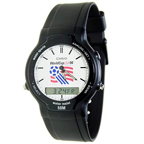 Casio Swc-03-2v Reloj Analógico/Digital para Chico Colección Collection World Cup USA Caja De Resina Esfera Color Blanco