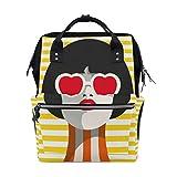 Brille Mädchen Mode Kühle Große Kapazität Wickeltaschen Mama Rucksack Multi Funktionen Windel Wickeltasche Tote Handtasche Für Kinder Babypflege Reise Täglichen Frauen
