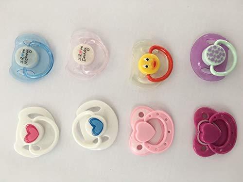 Terabithia Reborn Baby Dolls Accesorios 8 Piezas Suministro Chupete magnético