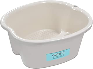 Ownest Foot Bath Spa,Water Spa and Foot Massage, Sturdy Plastic Foot Basin for Soaking Foot,Toe Nails, and Ankles,Pedicure,Portable Foot Tub-White
