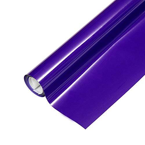 "Heat Transfer HTV Vinyl,12"" x 6.5 FT HTV Vinyl Rolls, Fluorescent Color,for Decor Sticker, Weeding Machine, Craft Cutter Machine, Printers, Letters, Car Decal, Vinyl Paper (Fluorescent Purple)"
