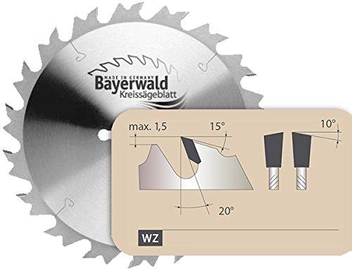 Bayerwald - HM Kreissägeblatt - Ø 250 mm x 3,2 mm x 20 mm | Wechselzahn (24 Zähne) | grobe, schnelle Zuschnitte - Brennholz & Holzwerkstoffe | für Tischkreissägen, Formatkreissäge & Wippkreissägen