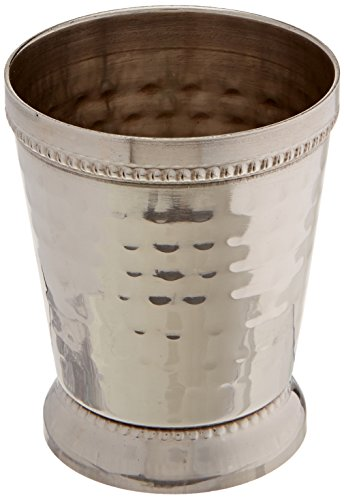 Elegance 4 oz Hammered Mint Julep Cup, Small, Silver by Elegance