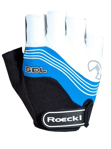 Roeckl Imajo Fahrrad Handschuhe kurz weiß/blau 2015: Größe: 6
