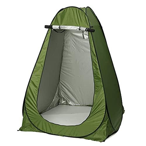 Release 47/57 Pulgadas portátil privacidad Ducha Inodoro Camping Camuflaje Tienda cobertizo vestidor letrina Inodoro Cambiador Tienda con Bolsa (Color : Green, Size : 145x145x186cm)