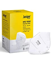 Juniper N95 Face Mask 9050 Respirator – White – Antiviral & Antibacterial – Filtration efficiency > 95% (PM 2.5) – Comfortable fit – EN149 European standards approved, CE, ISO certified