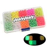 QualyQualy Fishing Beads Assorted, Plastic Glass Fishing Beads Red Yellow Mix Color Luminous Glow Fishing Beads 4mm 1000pcs