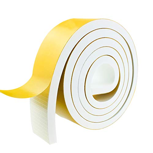 Weather Stripping Door Seal Strip,Foam Insulation Tape Self Adhesive for Doors and Windows.Soundproof Air Conditioning Seal Strip.Weather Stripping Tape. (W:2In X T:2/5In X L:6.67Ft)
