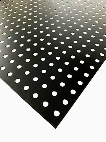 Lochblech Stahl Verzinkt RG 10-25,9 Schwarz Pulverbeschichtet 1,5mm dick, Größe nach Maß Neu (1000 mm x 150 mm)