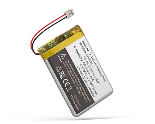 ElecGear 1x Batería de Repuesto para Controlador PS4 V4, Batería Recargable de 1500mAh para Playstation 4 Mando DualShock 4 CUH-ZCT2 LIP1522 con Enchufe Pequeño, Kit de Herramientas de Reparación