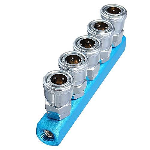 XCQ C-Typ Pneumatic Connector SMV SMY RUNDE Tee SML Trachea Schnelle Verbindung Kompressor-Fittings langlebig 0324 (Color : 6#)